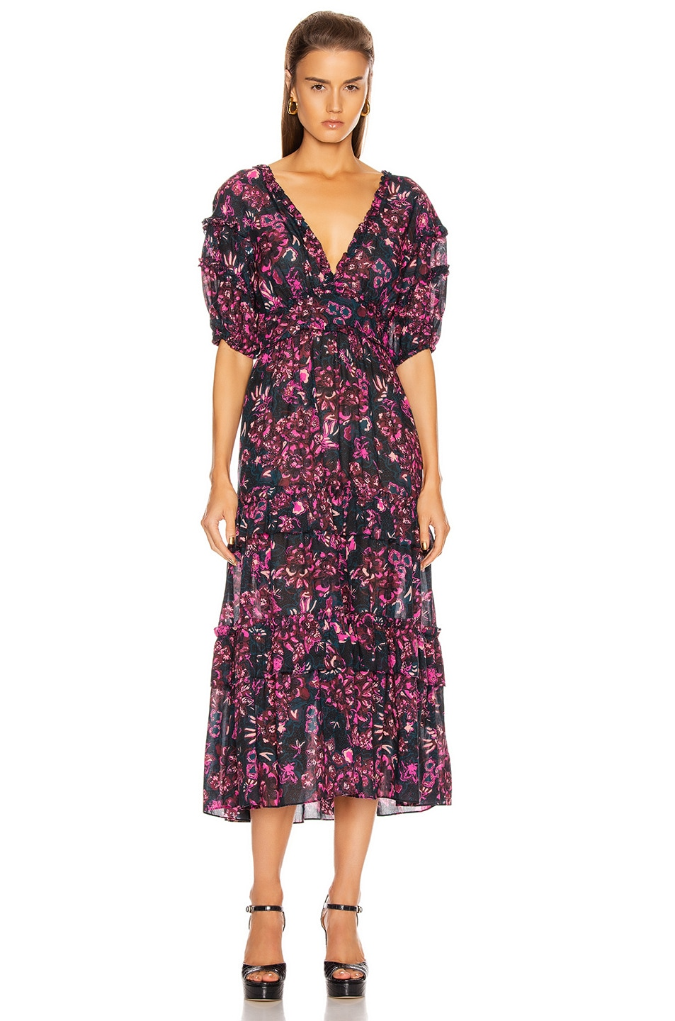 Image 1 of Ulla Johnson Amora Dress in Midnight