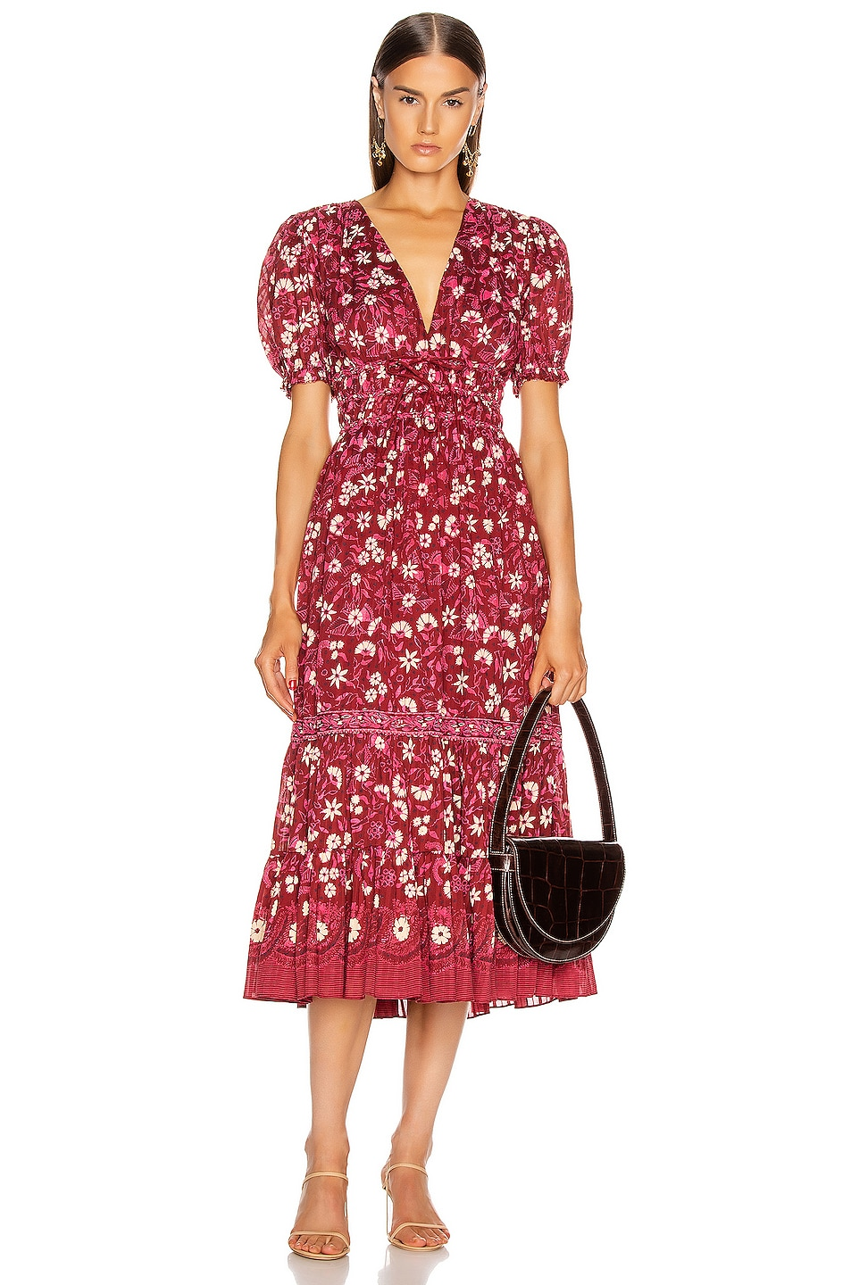 Image 1 of Ulla Johnson Zaria Dress in Burgundy