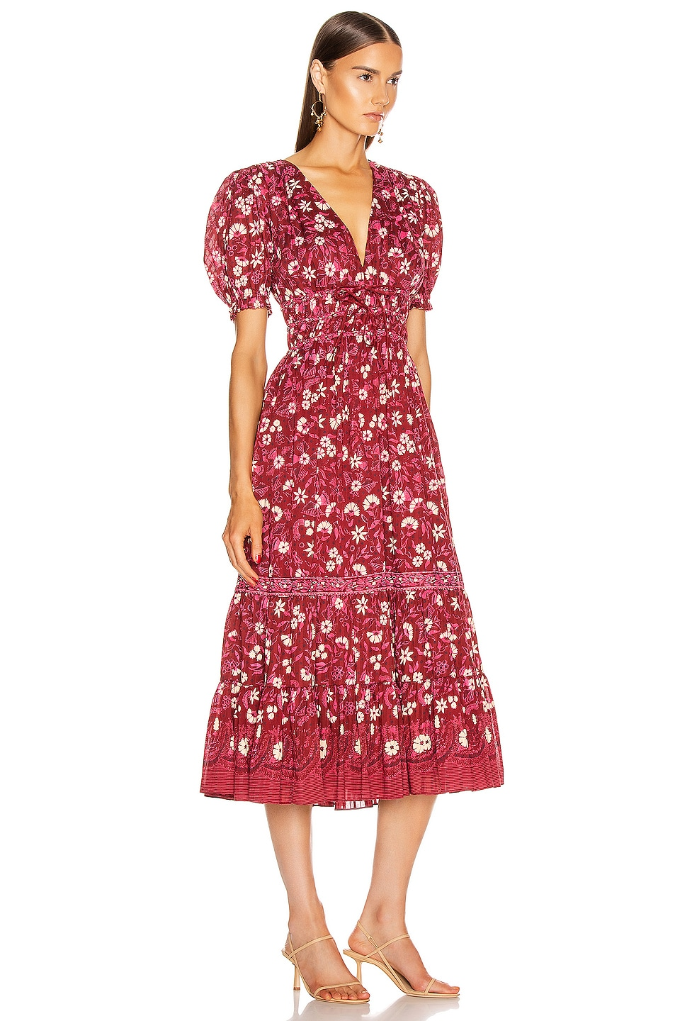 Image 2 of Ulla Johnson Zaria Dress in Burgundy