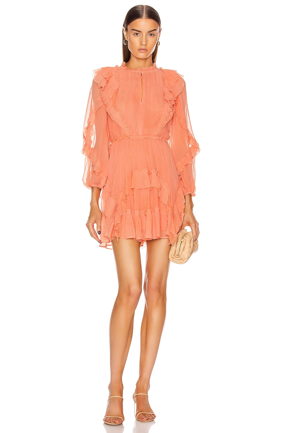 Image 1 of Ulla Johnson Aberdeen Dress in Coral