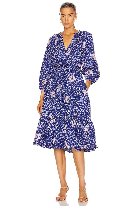 Image 1 of Ulla Johnson Bevyn Dress in Cobalt