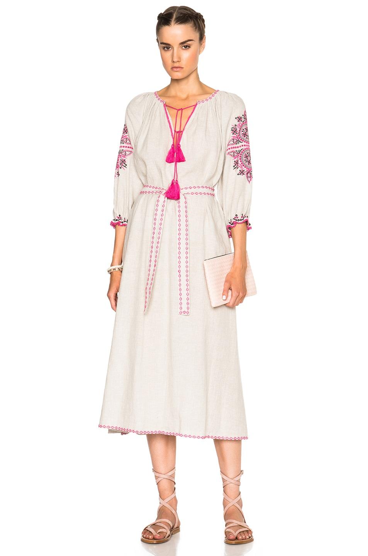Image 1 of Ulla Johnson Sofia Dress in Flax