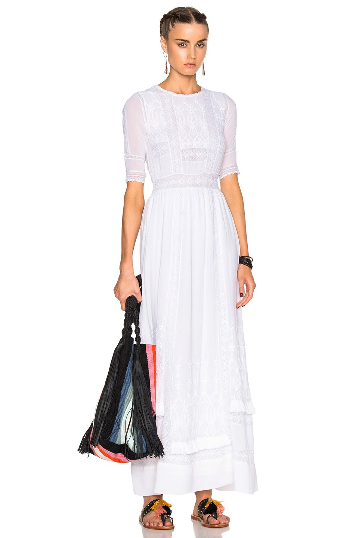 Image 1 Of Ulla Johnson Clara Dress In Pearl
