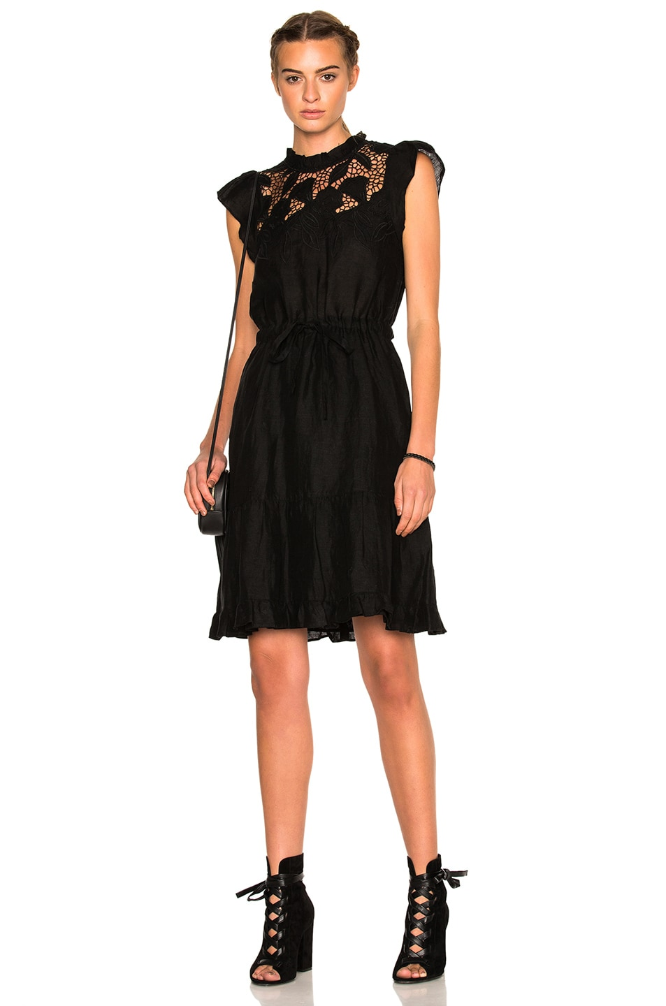7f467031ca Image 1 of Ulla Johnson Amelie Floral Embroidered Lace Dress in Jet