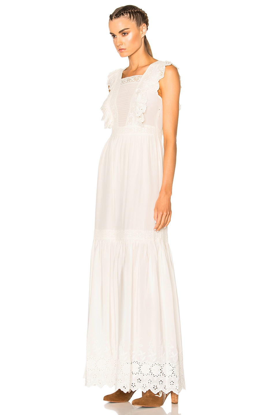 Image 2 of Ulla Johnson Amelie Dress in Snow