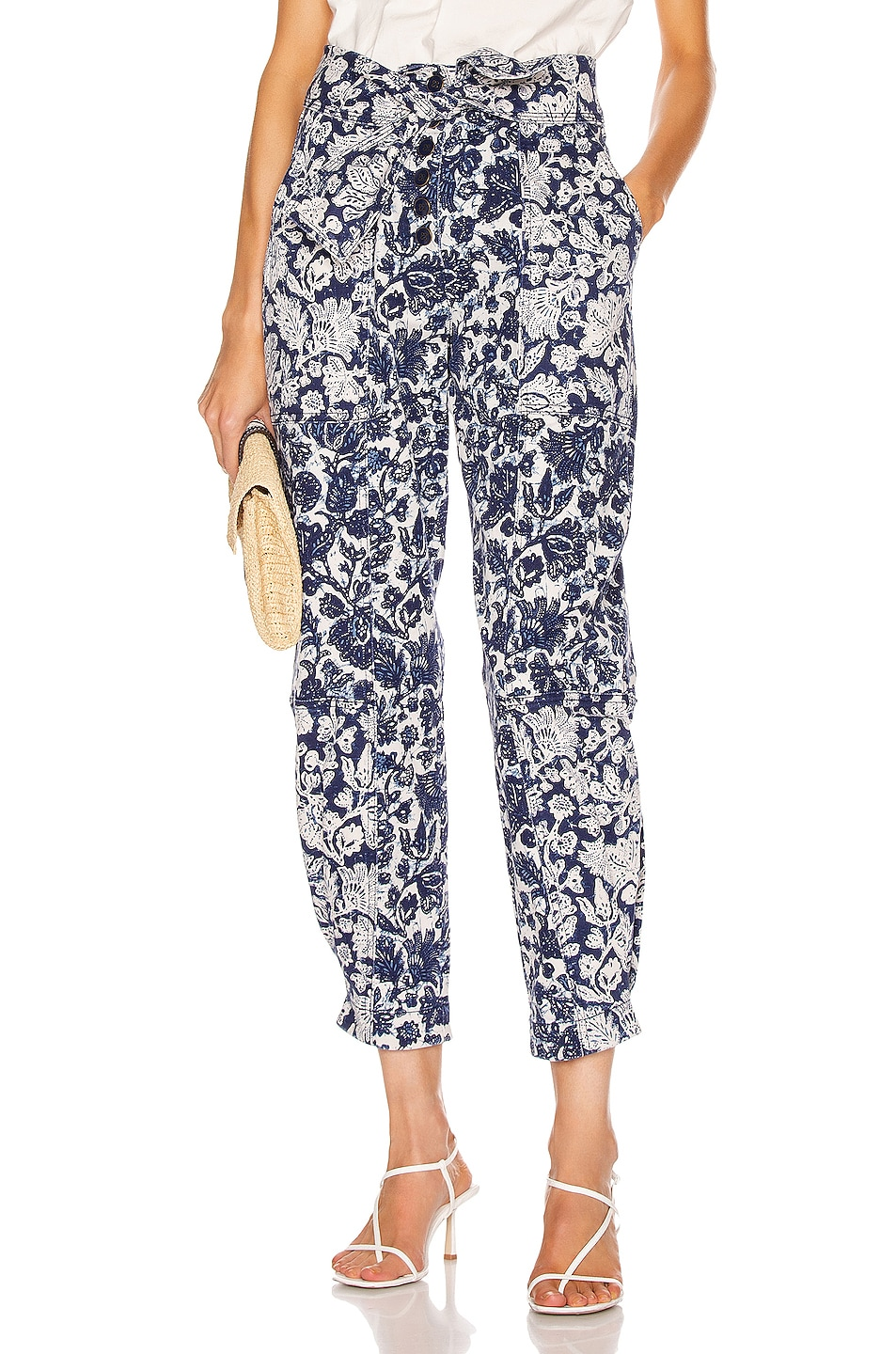 Image 1 of Ulla Johnson Storm Jean in Floral Patchwork
