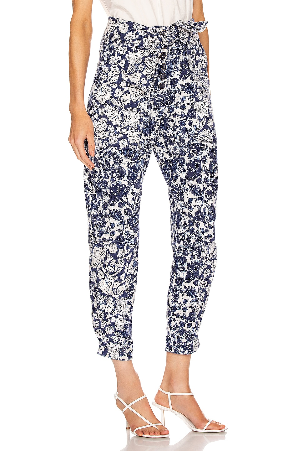 Image 2 of Ulla Johnson Storm Jean in Floral Patchwork