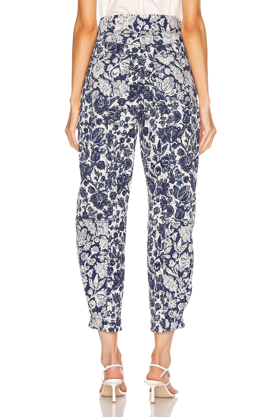Image 3 of Ulla Johnson Storm Jean in Floral Patchwork