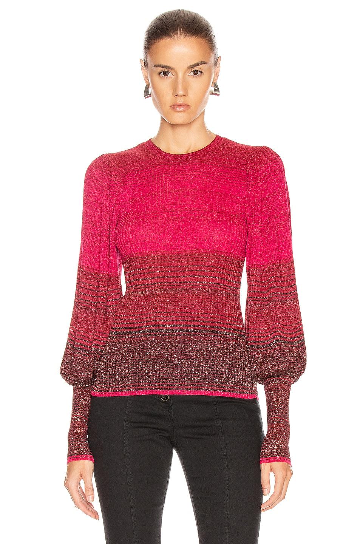 Image 2 of Ulla Johnson Dax Pullover Sweater in Fuchsia