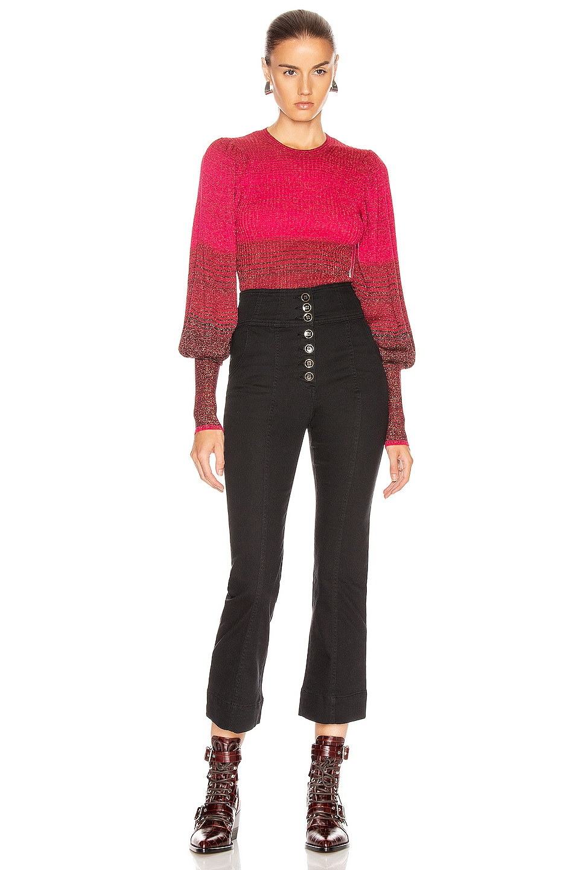 Image 5 of Ulla Johnson Dax Pullover Sweater in Fuchsia