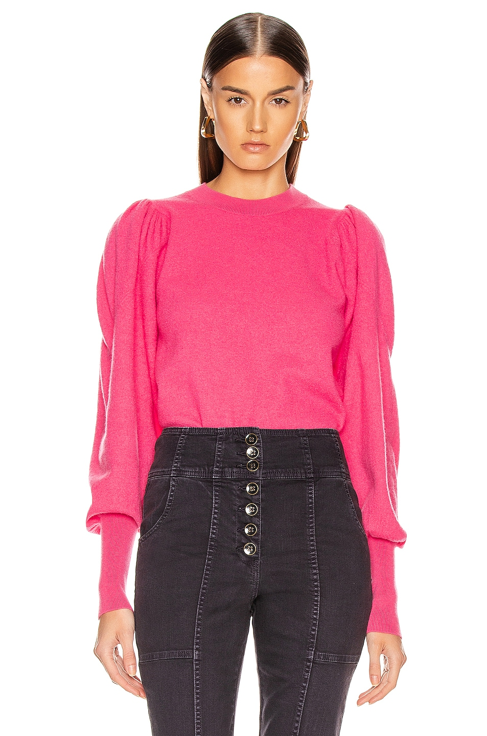 Image 1 of Ulla Johnson Katerina Pullover in Fuchsia