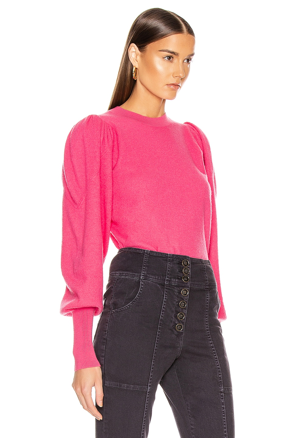 Image 2 of Ulla Johnson Katerina Pullover in Fuchsia