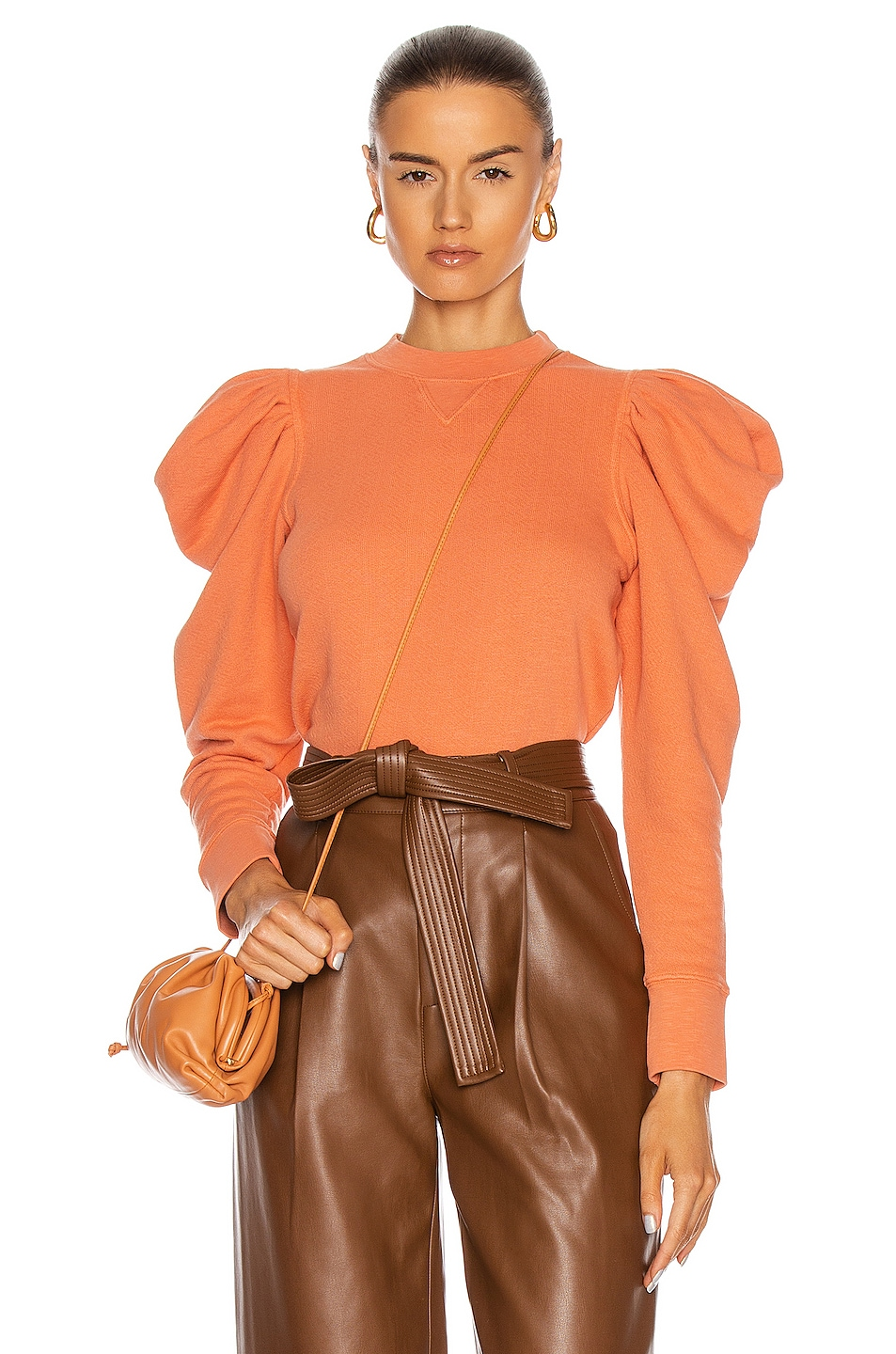 Image 1 of Ulla Johnson Alair Pullover Sweater in Clay