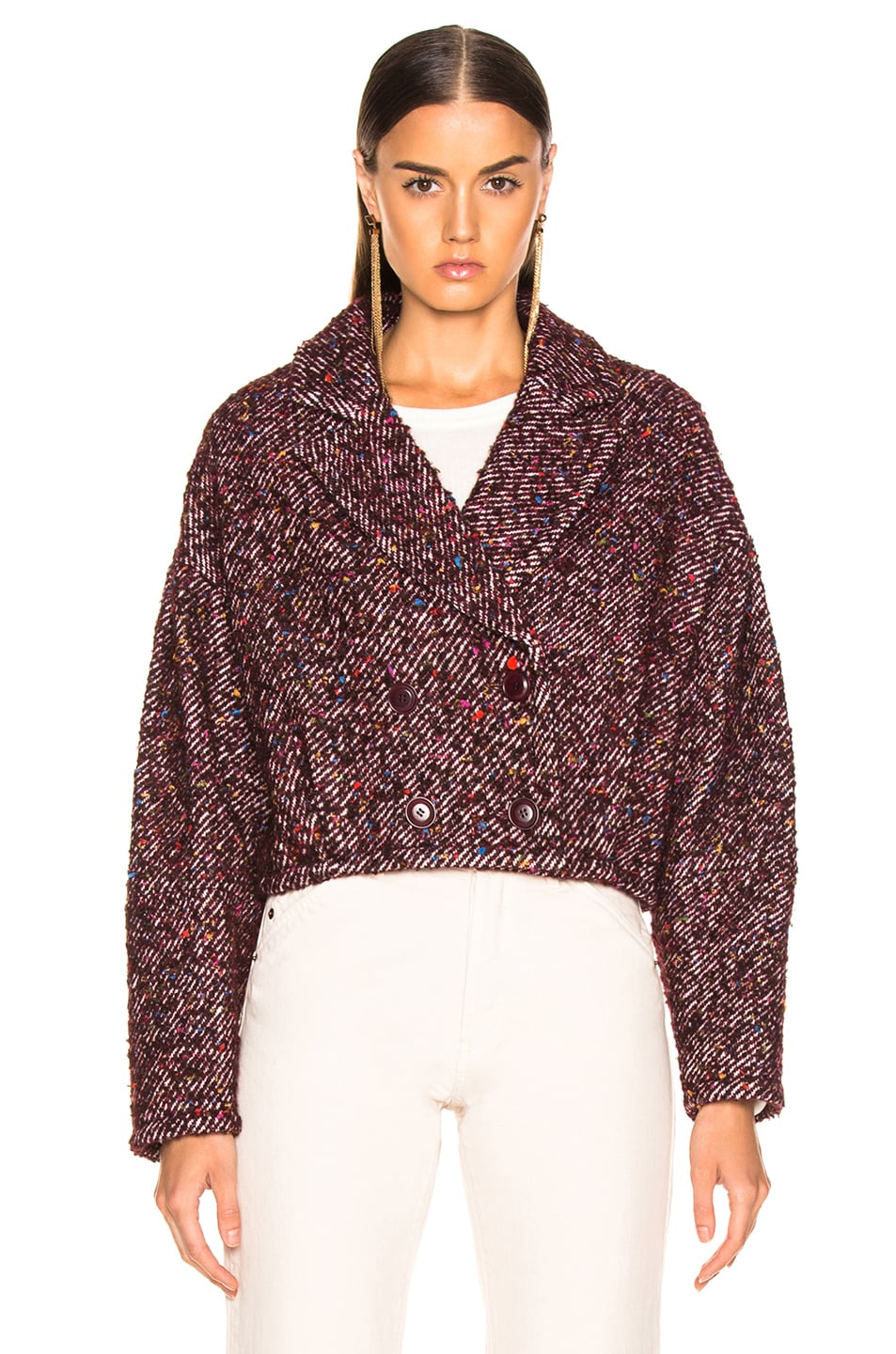 Image 2 of Ulla Johnson Helio Jacket in Maroon