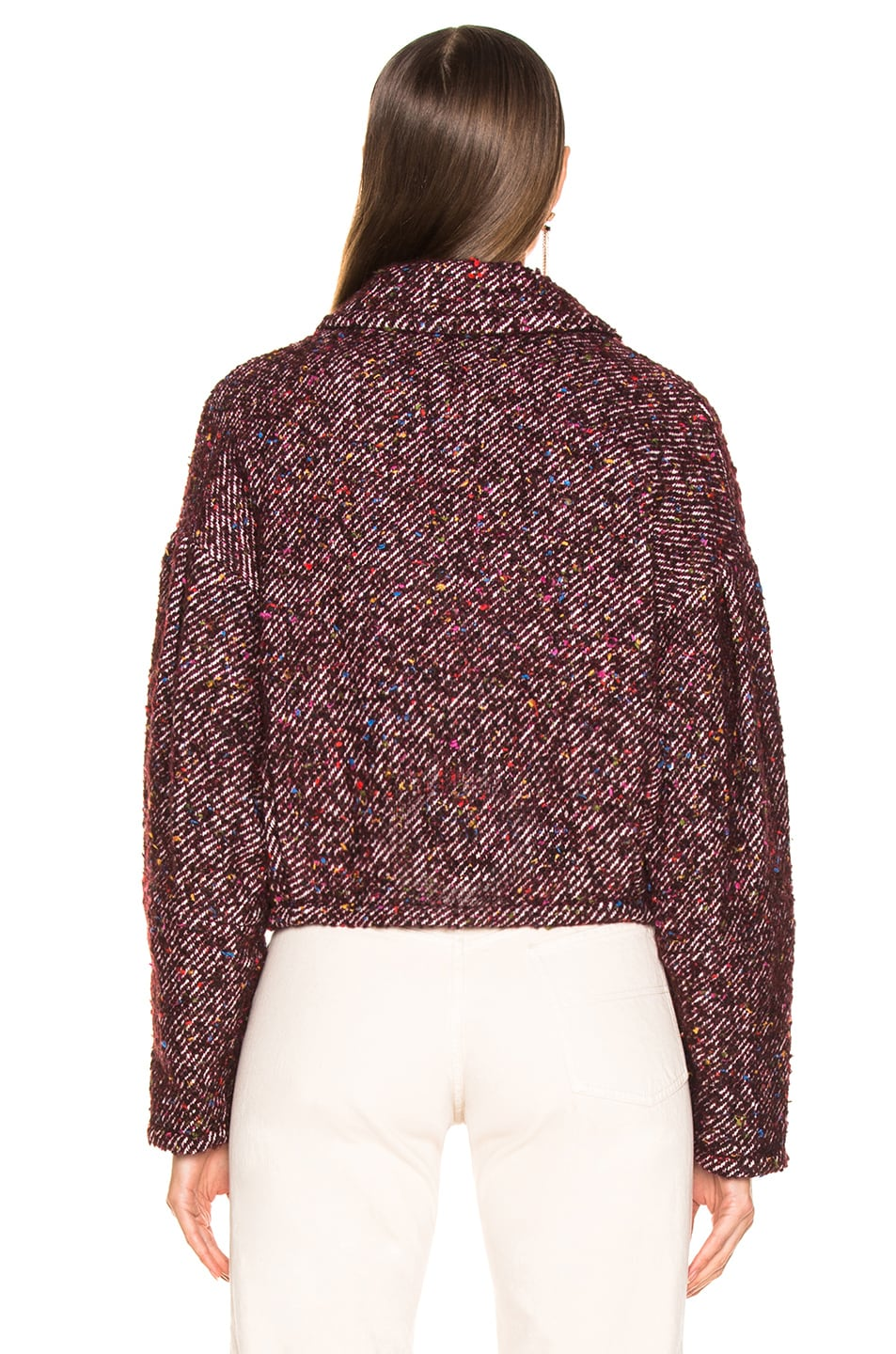 Image 4 of Ulla Johnson Helio Jacket in Maroon