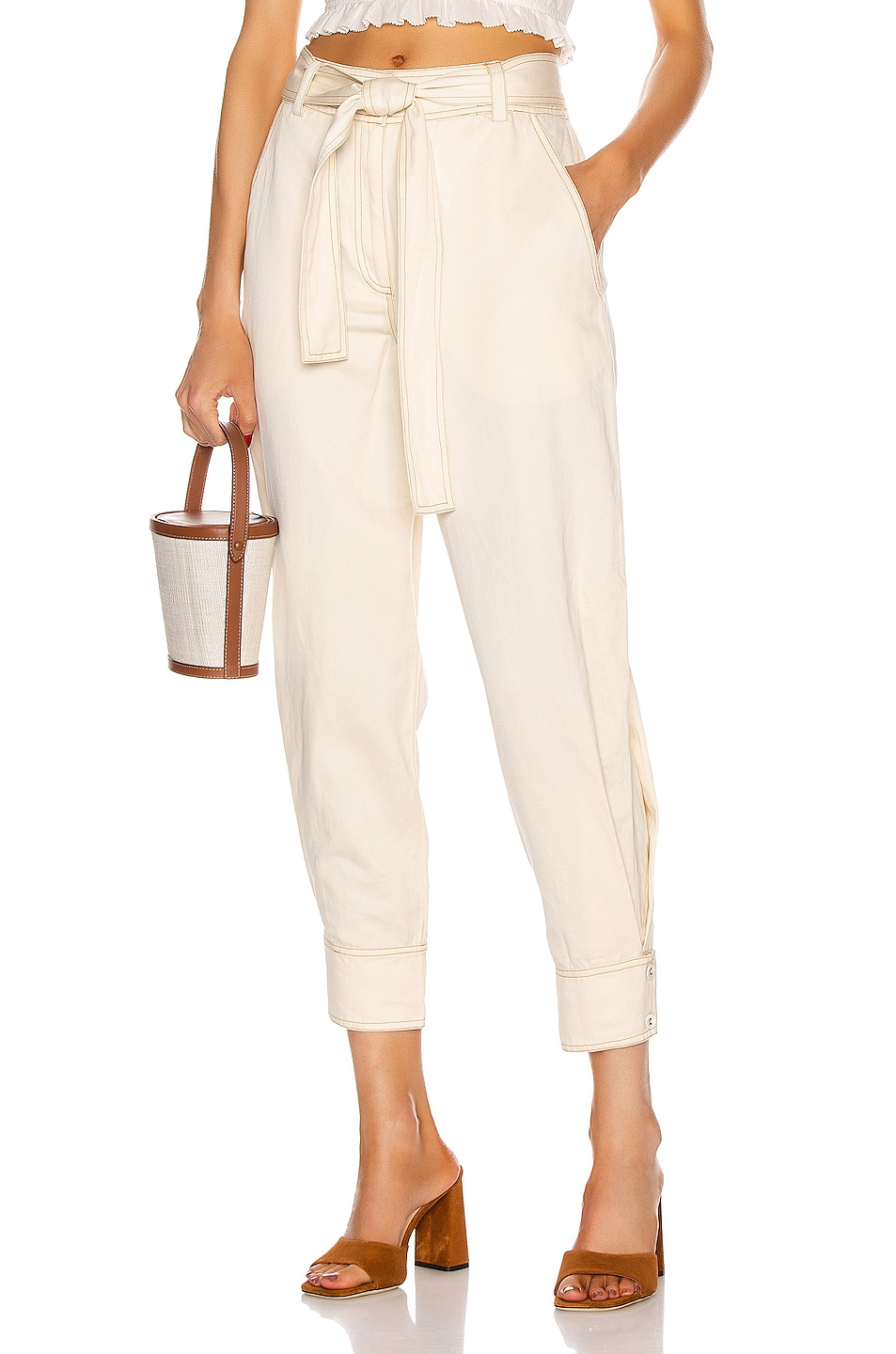 Image 1 of Ulla Johnson Levi Pant in Ivory