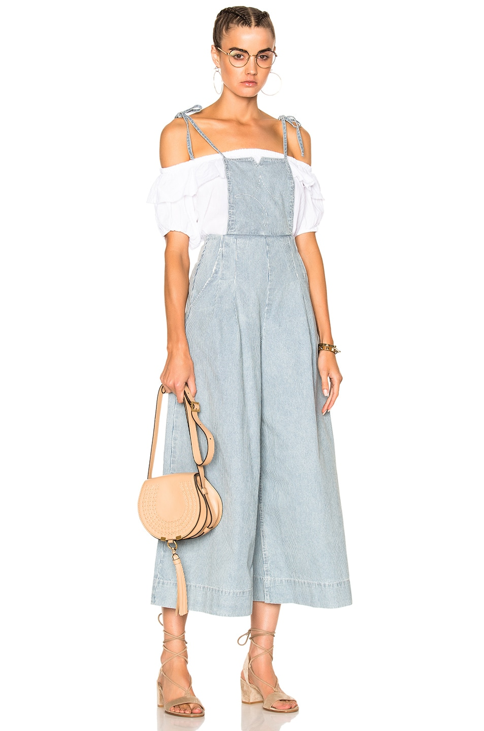 Image 1 of Ulla Johnson Rosina Overalls in Stripe