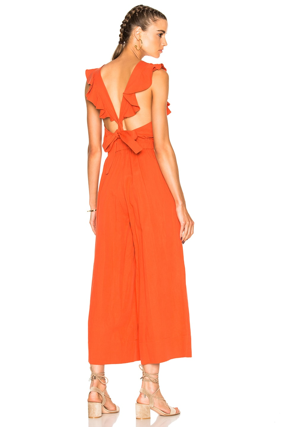 Image 1 of Ulla Johnson Viola Jumpsuit in Chili