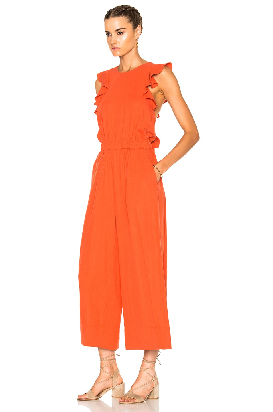 36b67dffd57b Image 3 of Ulla Johnson Viola Jumpsuit in Chili