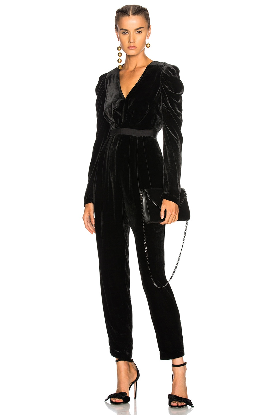 Image 1 of Ulla Johnson Sabine Jumpsuit in Noir