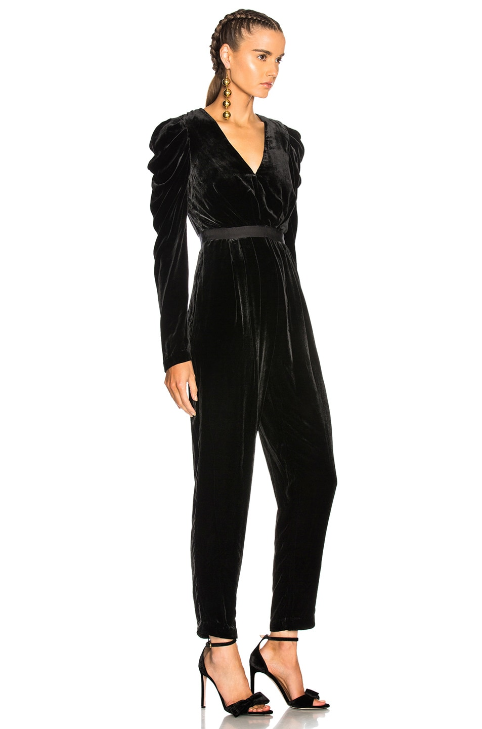 Image 2 of Ulla Johnson Sabine Jumpsuit in Noir