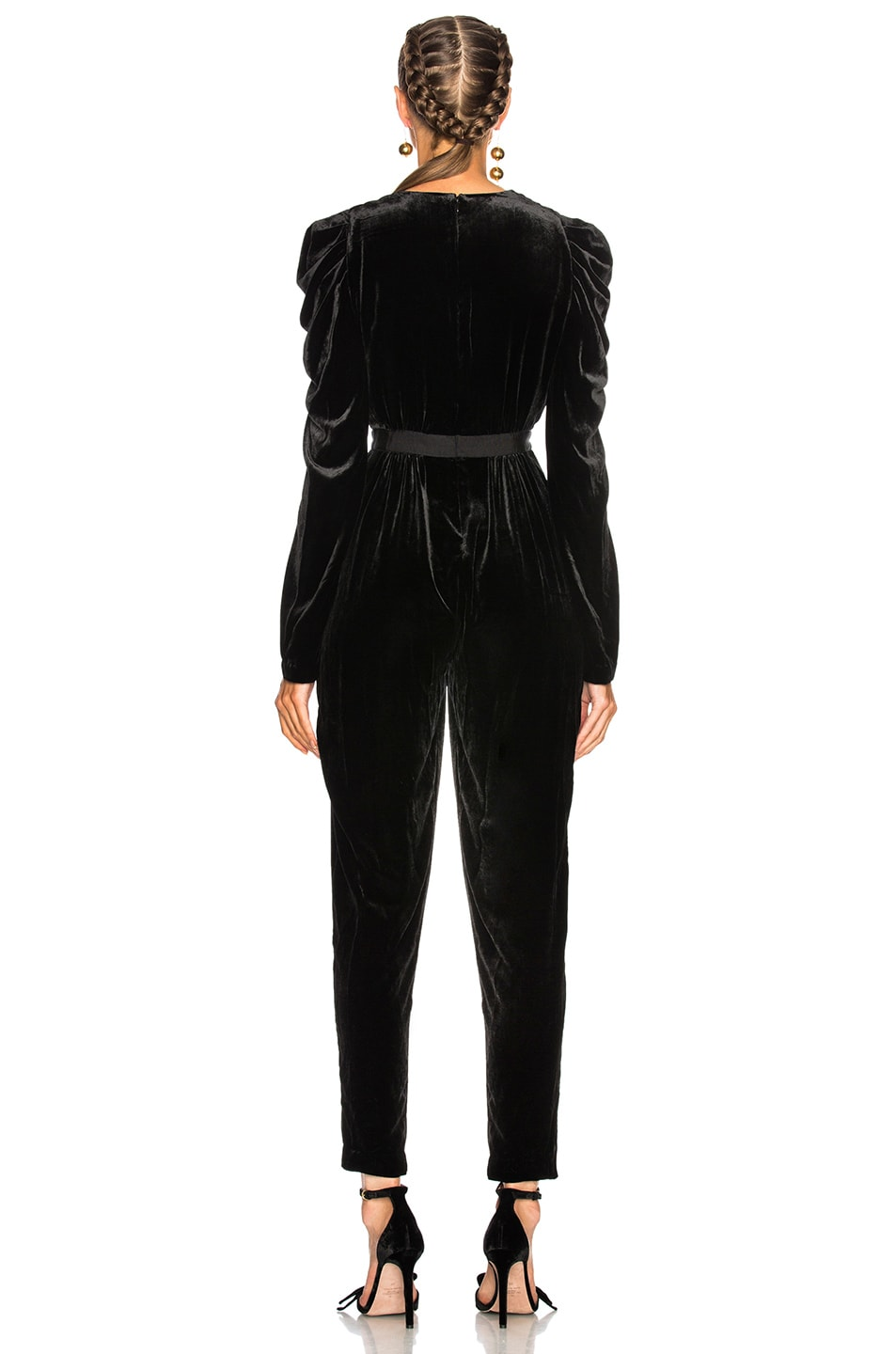Image 3 of Ulla Johnson Sabine Jumpsuit in Noir