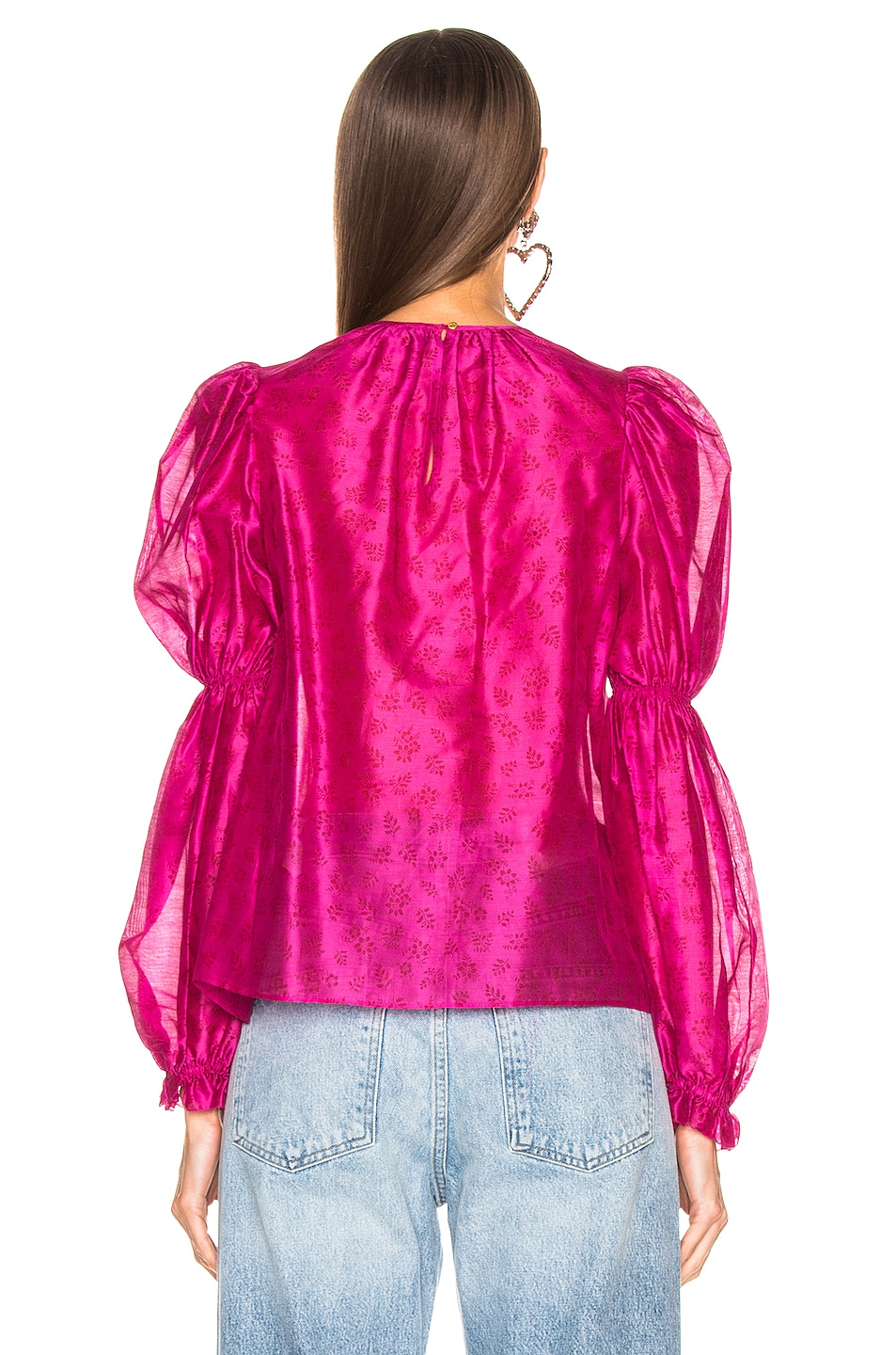 Image 3 of Ulla Johnson Aster Blouse in Fuchsia