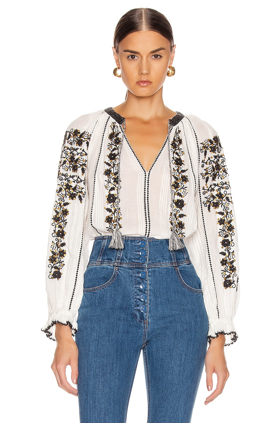 Image 1 of Ulla Johnson Rima Blouse in Blanc
