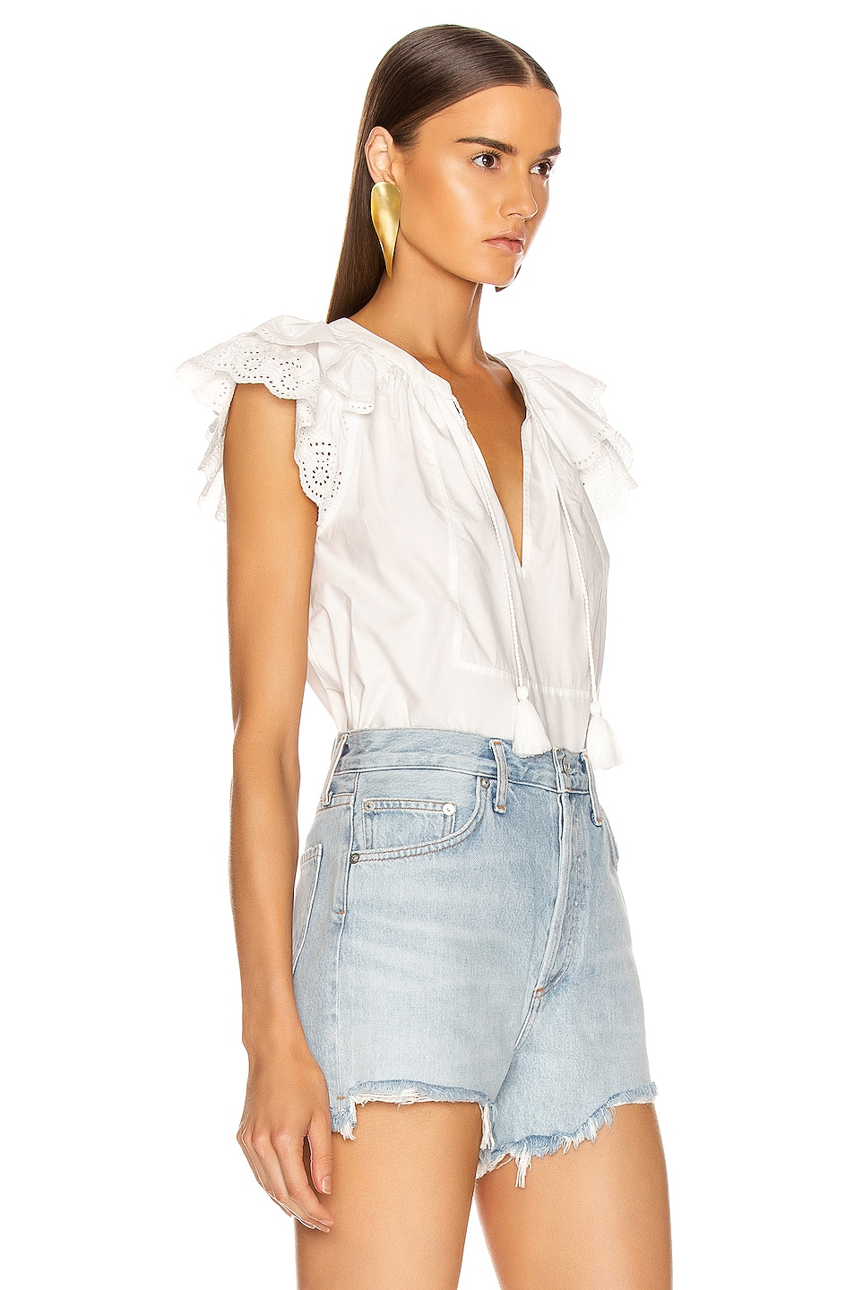 Image 2 of Ulla Johnson Elm Top in Blanc