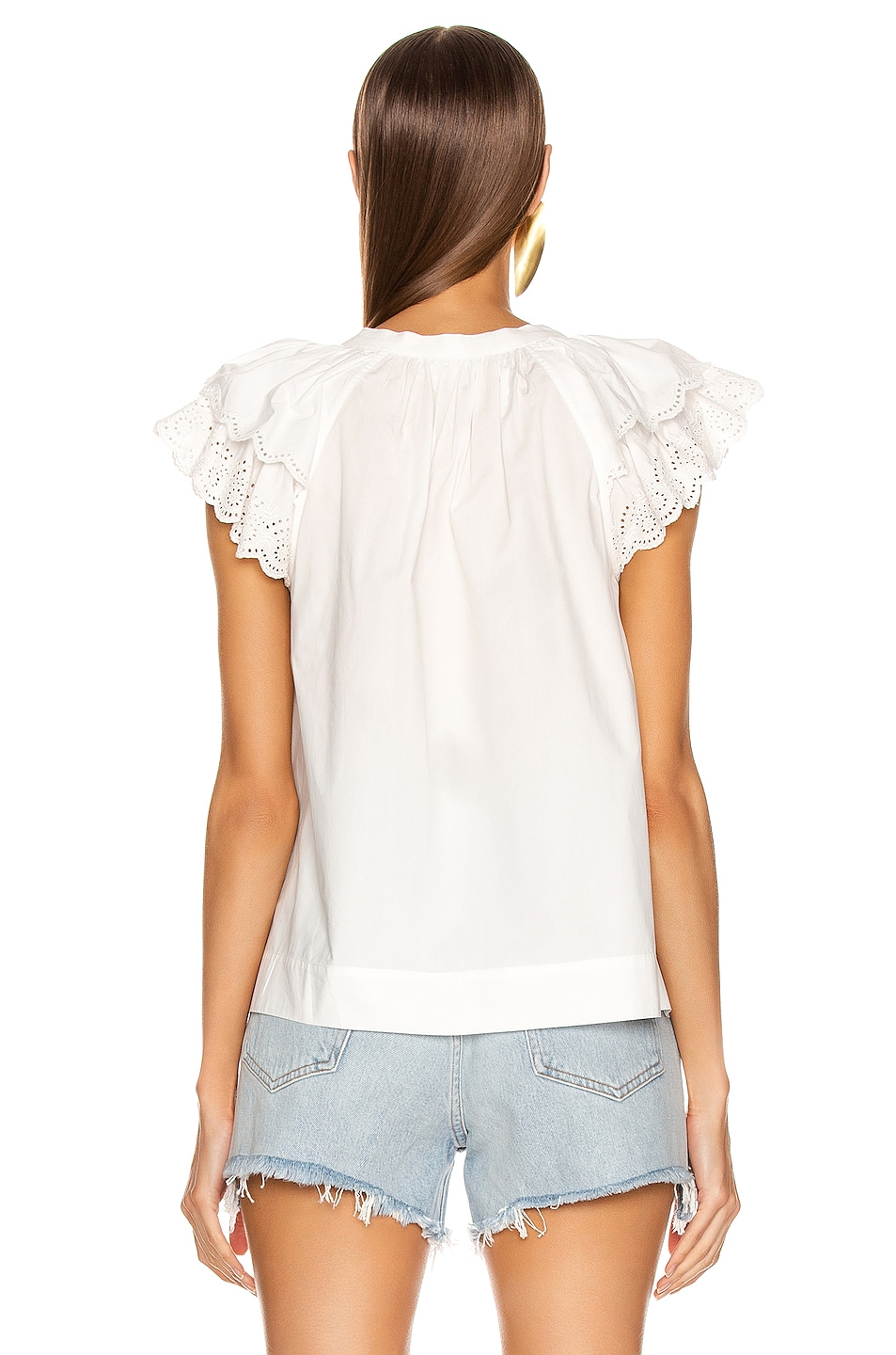 Image 3 of Ulla Johnson Elm Top in Blanc