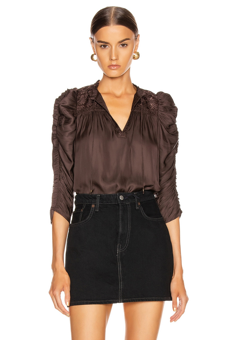 Image 1 of Ulla Johnson Lissa Top in Noir