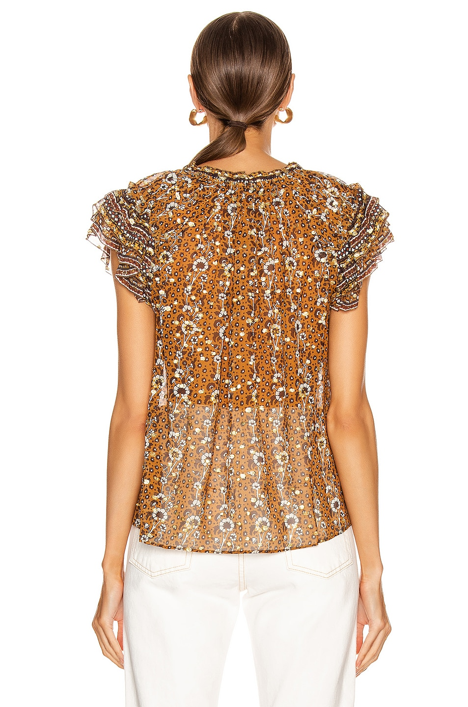Image 3 of Ulla Johnson Kosta Top in Ochre