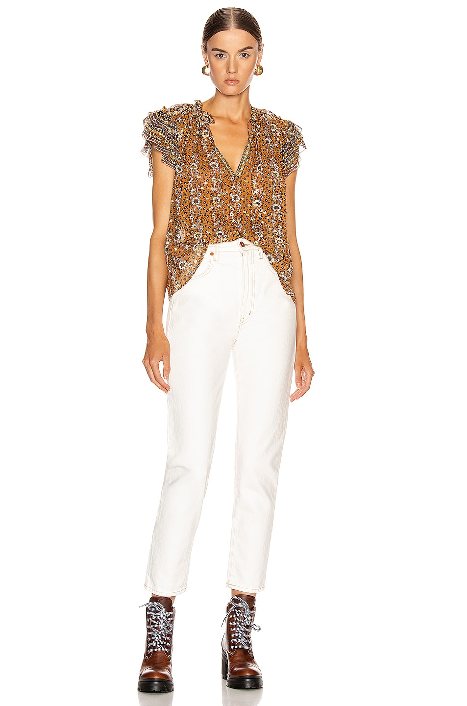Image 4 of Ulla Johnson Kosta Top in Ochre