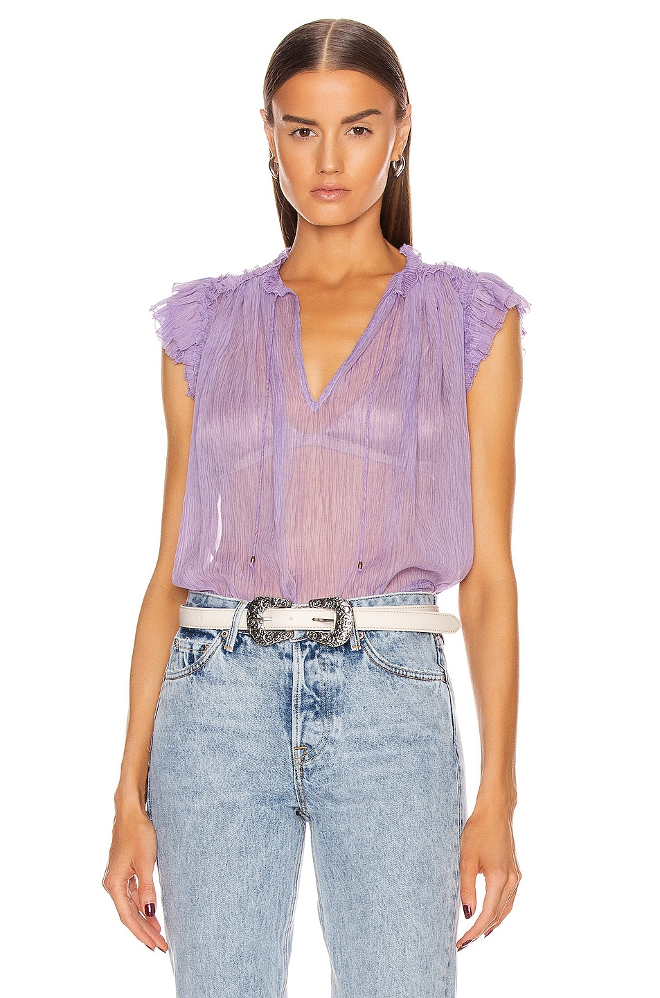 Image 1 of Ulla Johnson Clea Top in Lavender