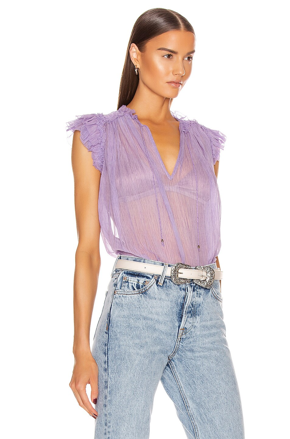 Image 2 of Ulla Johnson Clea Top in Lavender
