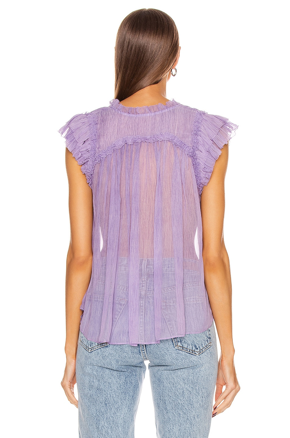 Image 3 of Ulla Johnson Clea Top in Lavender