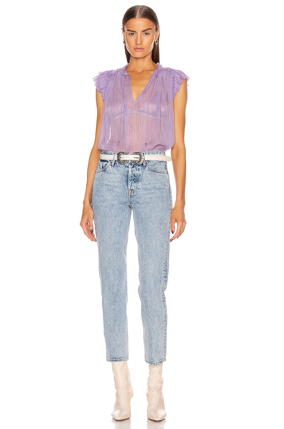 Image 4 of Ulla Johnson Clea Top in Lavender
