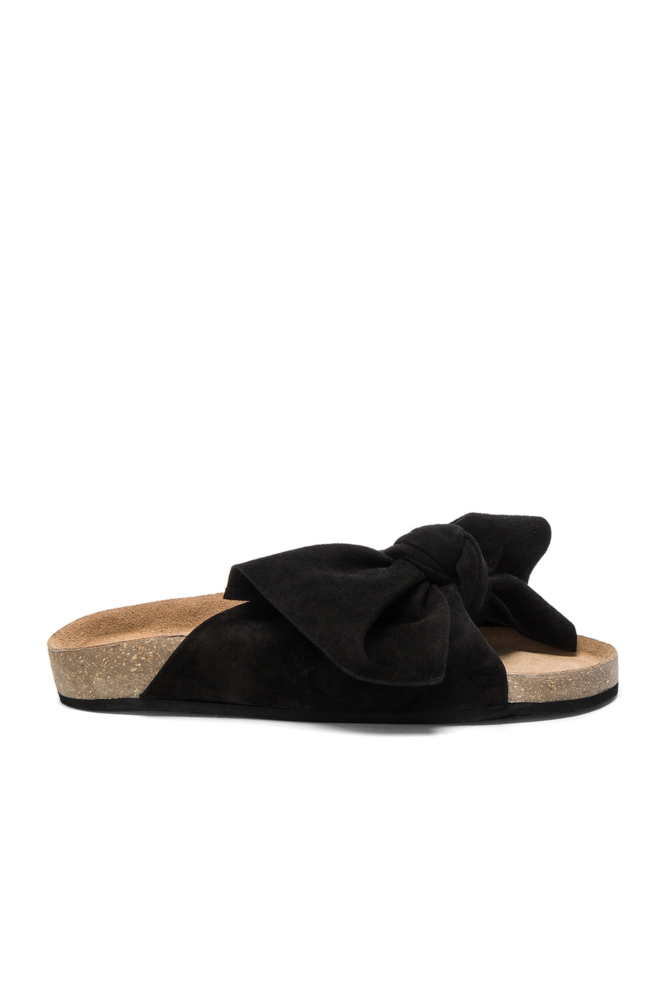ULLA JOHNSON Suede Ingrid Slides in . ub7QW2E