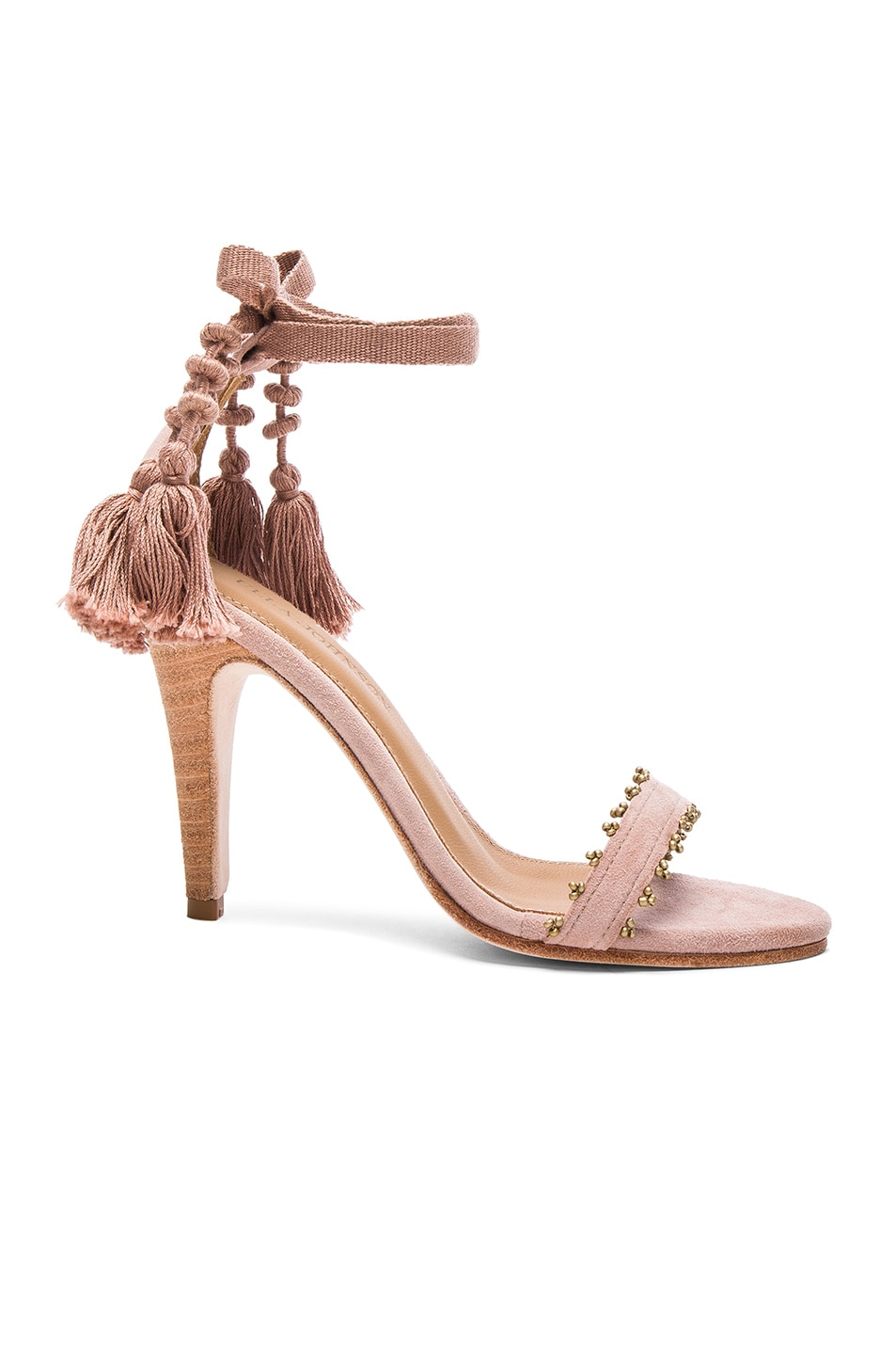 Image 1 of Ulla Johnson Suede Dani Heels in Rose Suede