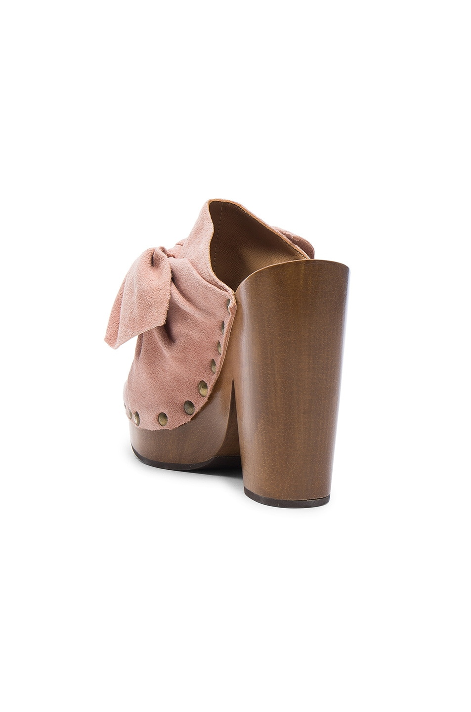 Image 3 of Ulla Johnson Suede Stevie Clogs in Rose Suede