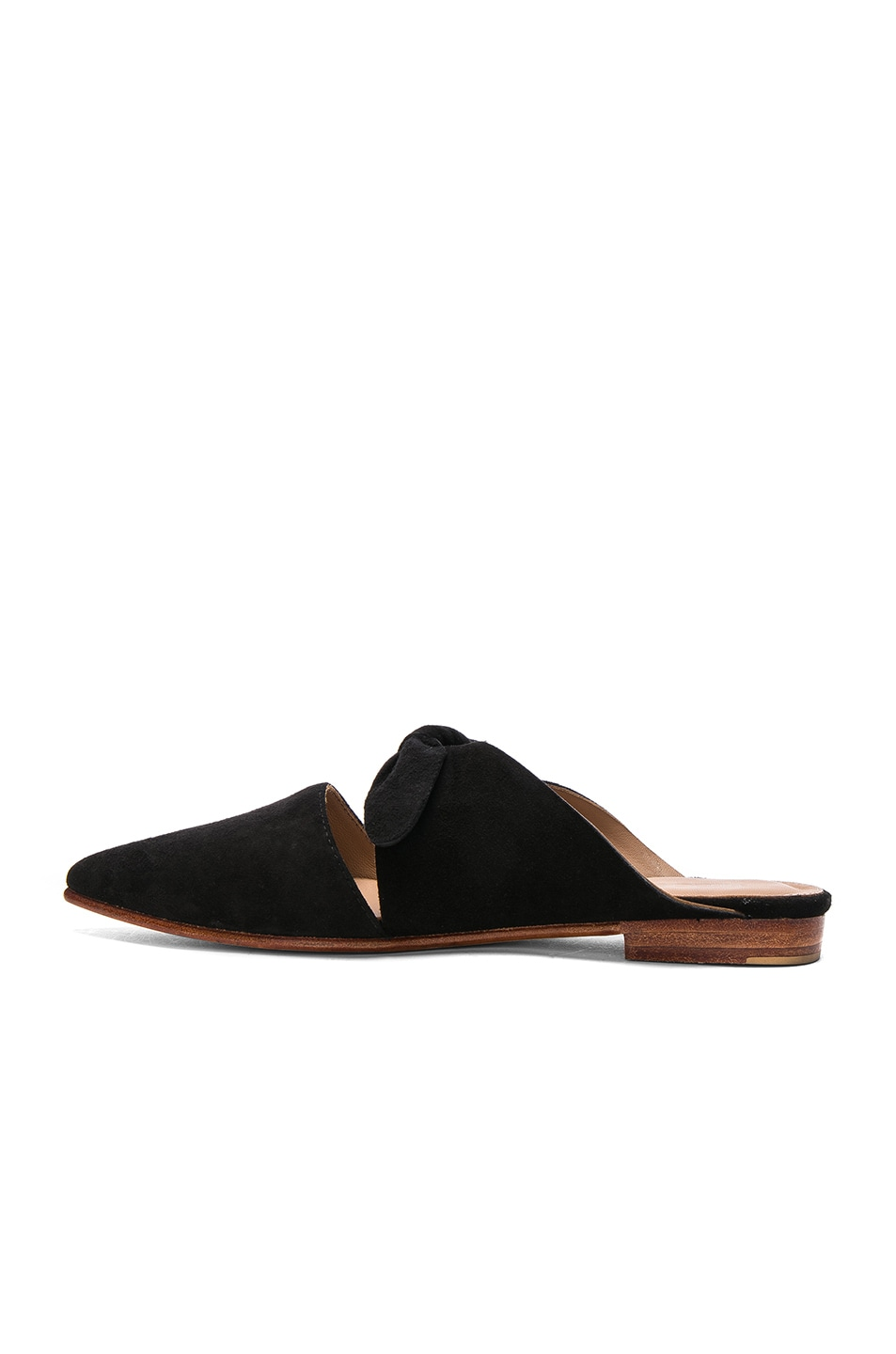 Image 5 of Ulla Johnson Suede Lilo Babouche Mules in Noir