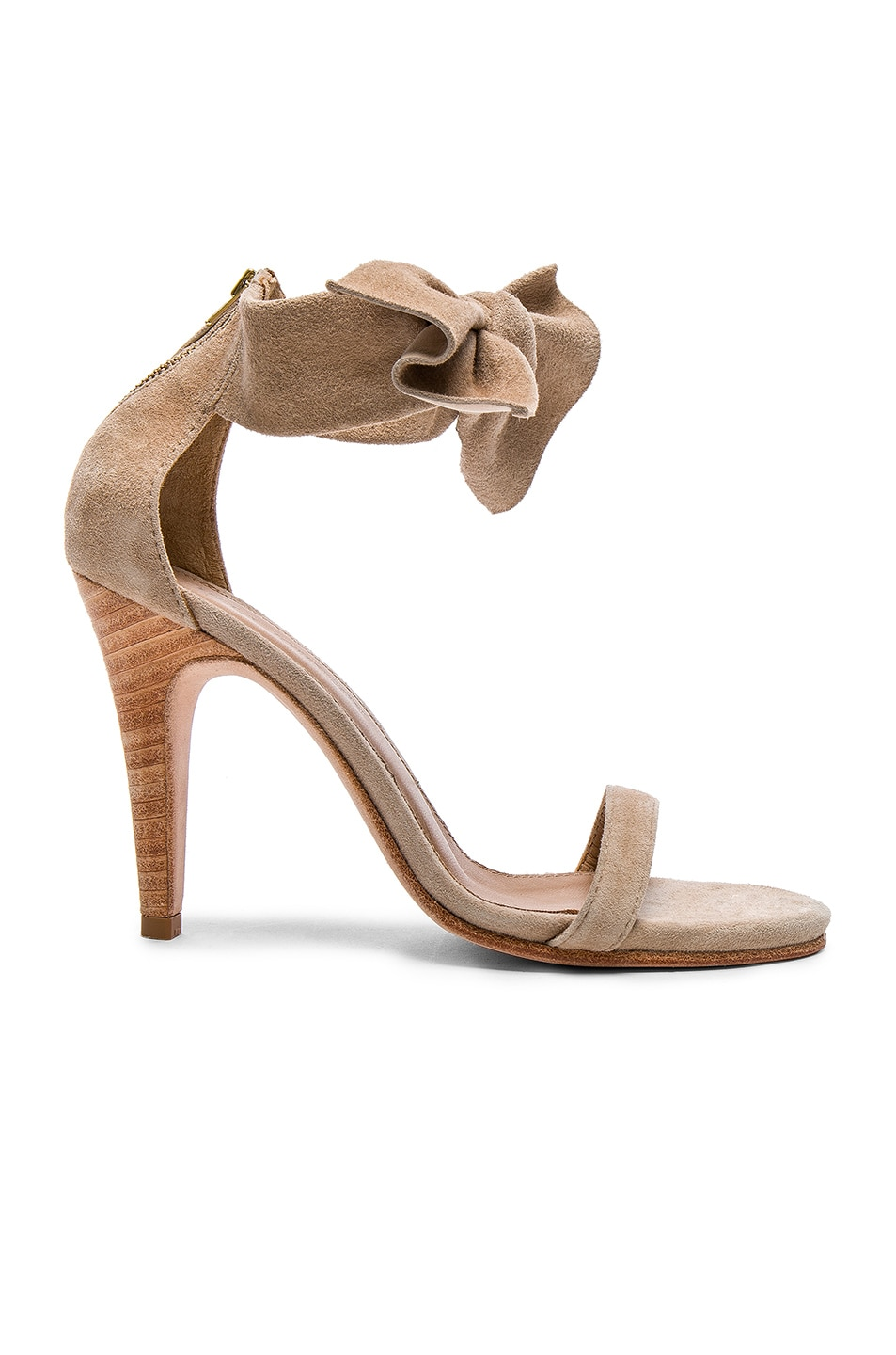 Image 1 of Ulla Johnson Suede Thecia Heels in Taupe