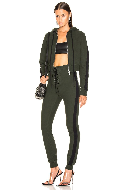 Image 1 of Unravel Terry B Hoodie Jumpsuit in Dark Green