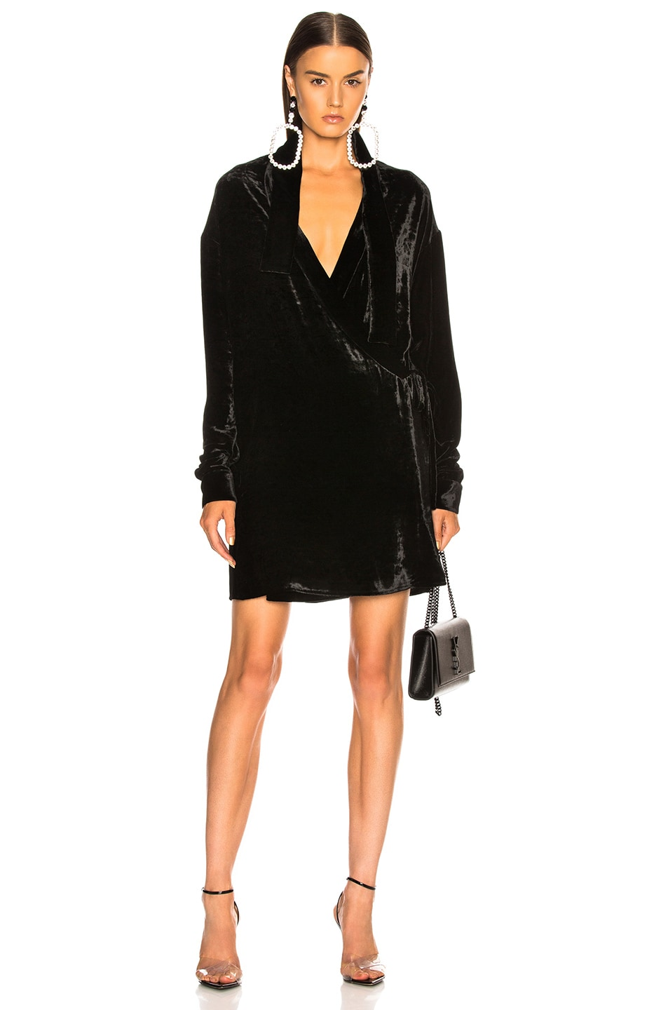 bd52c82673 Image 1 of Unravel Velvet Kimono Dress in Black