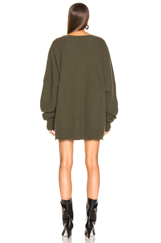 Image 3 of Unravel Rib Boiled Oversize Dress in Dark Green