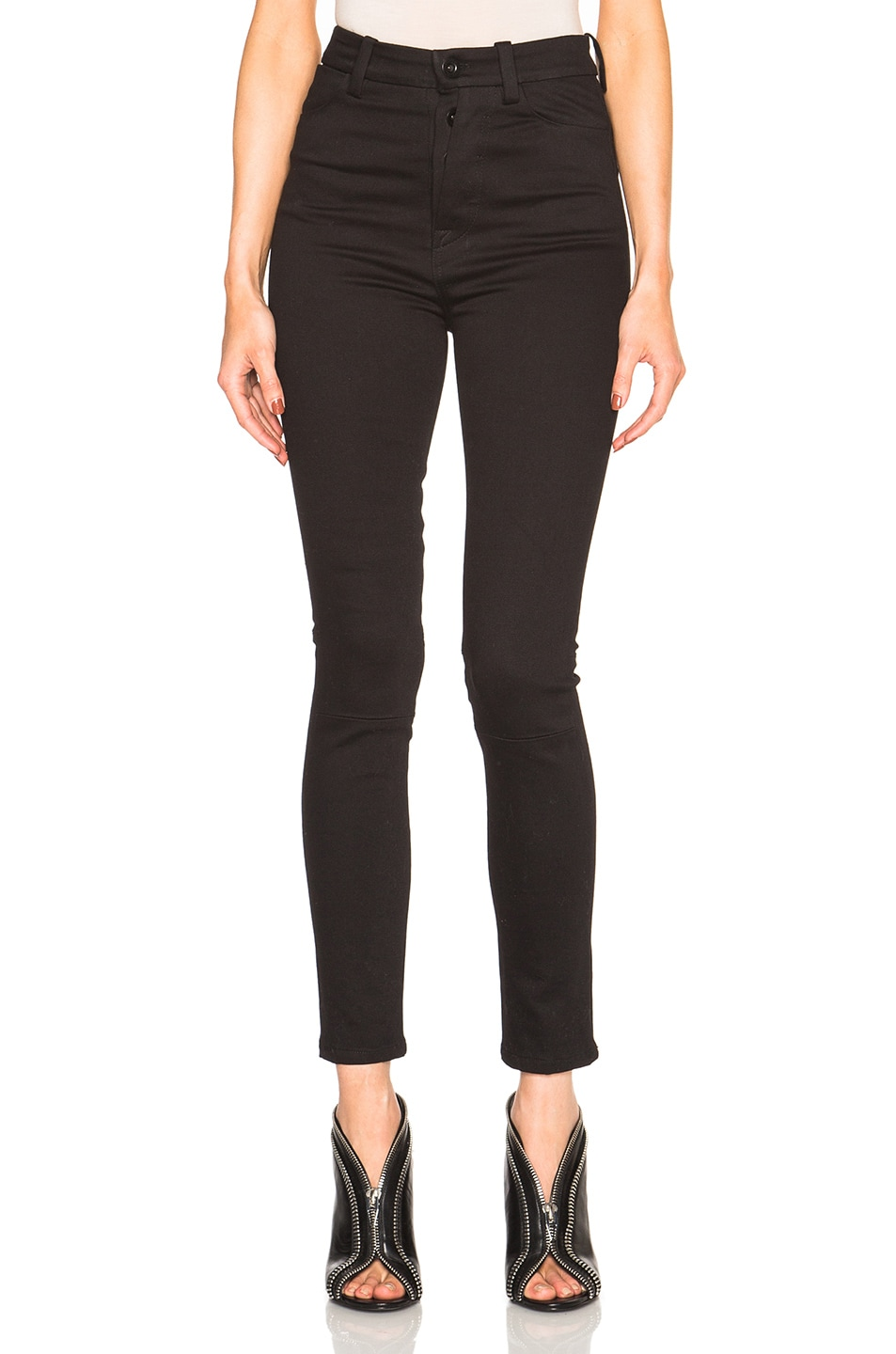 Image 1 of Unravel High Waisted Super Skinny in Black