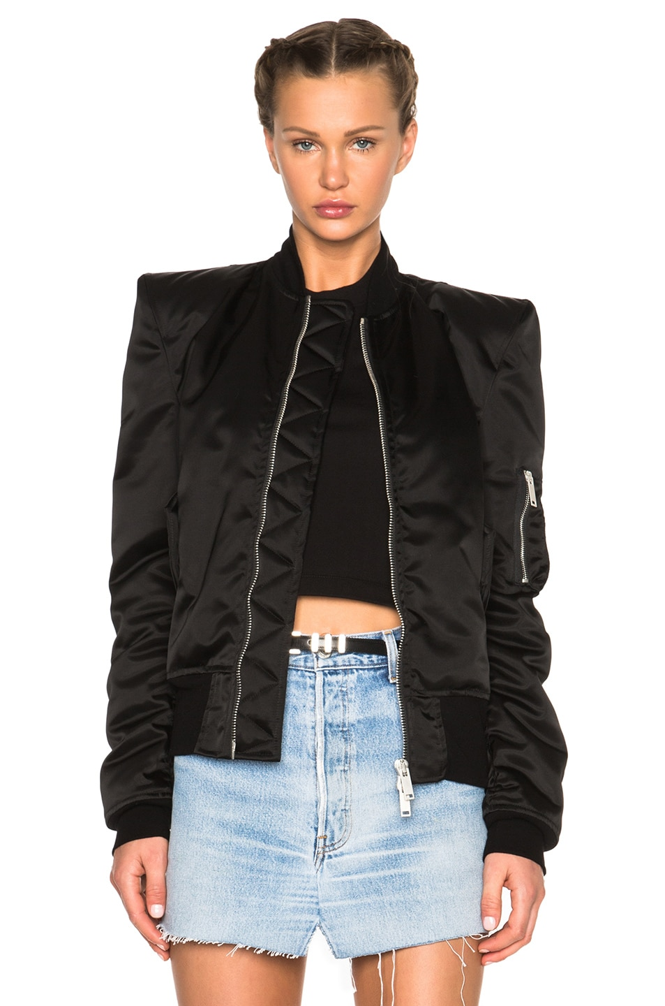Image 1 of Unravel FWRD Exclusive Sartorial Tuxedo Bomber in Black
