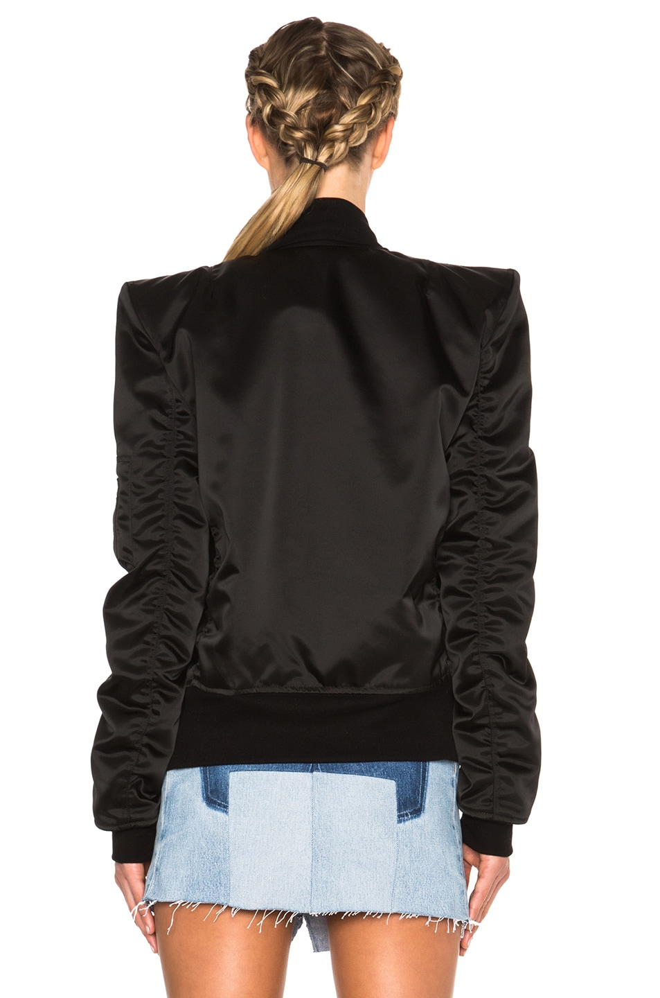 Image 5 of Unravel FWRD Exclusive Sartorial Tuxedo Bomber in Black