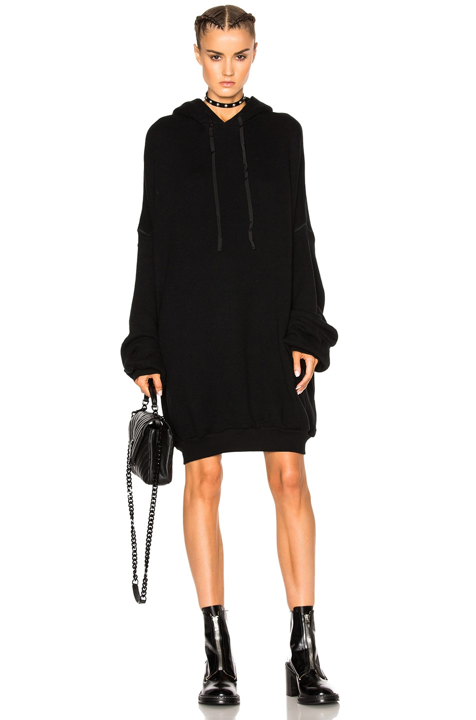 Image 1 of Unravel Cashmere Oversize Hoodie in Black