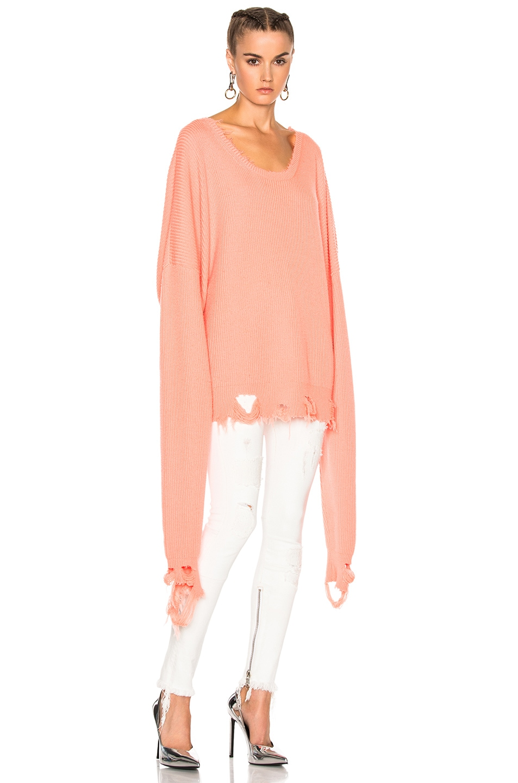 Image 4 of Unravel Destroyed Oversized Crewneck Sweatshirt in Orange